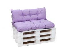 Cuscini per pallet, cuscini per divani in pallet, cuscini per sedie,cuscini per pallet economici, cuscini da giardino, cuscini impermeabili (lilla, Cuscini set:120x80+120x40cm)