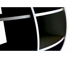 MENSOLA SFERICA DESIGN DA PARETE CAMERA SOGGIORNO UFFICIO NERA 61x61 NS-01010100