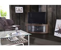 Centurion Supports, mobile da TV Pangea, con linea curva, per angolo, per TV da 32 a 55 Walnut