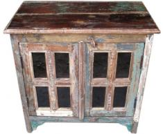 Guru-Shop Credenza Antica (JH7-362), 75x75x46 cm, Cassettiere e Credenze