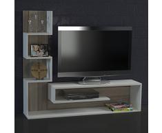 Alphamoebel - Parete attrezzata soggiorno ''Marina, colore: Bianco/ Cordoba