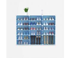 XIAOMEI Cubi Modulare Scaffale Porta Scarpe De Grande capacità Semplice da Montare Scarpe Cabinet Mensola Casella Fai da Te Plastica Organizer Storage Porta Armadi Ingresso Camera Blu-x