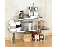 Mensola per cucina acquista mensole per cucina online su - Mensole acciaio per cucina ...