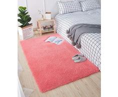 HETOOSHI Tappeto Shaggy - Tappeto Salotto A Pelo Lungo per Asilo Nido Home Room Decor - in Diversi Colori E Misure(Rosso 60 x 90 cm)