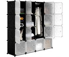 LANGRIA 16-cubo Scarpiera Armadio Armadietto Guardaroba Scaffale Cubi Mobiletto Modulare Modello Riccio