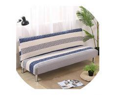Nihaoma Europa Style Stampato Senza Braccia Divano-Letto Copertura di sede Pieghevole Slipcovers Stretch Covers Couch Protector Bench Elastico futon,5894,150-185Cm