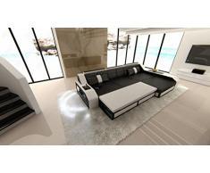 Divano Nero E Bianco : Divano modello amelia cm color bianco e nero arredamento