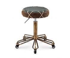 SLTO, Sgabello rotante retrò marrone, sgabello da ufficio regolabile in altezza sedia da pranzo girevole per parrucchiere sgabello piccolo rotondo sedia da lavoro sgabello ergonomico-brown