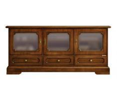 Credenza Da Salone : Credenza da salotto o soggiorno a ante in legno rovere vecchio