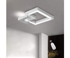 ZMH Plafoniera LED da soffitto I lampada moderna da soffitto 37W 50cm lampadario Dimmerabile bianco caldo| neutro | bianco freddo con il telecomando per camera da letto o soggiorno