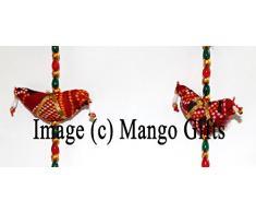 Mango-Gifts indiano a mano mobile string festive decorazione da appendere alla porta specchio lavoro ornamenti paio