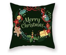 XIAOGING Tema di Buon Natale Decorativo Federa Home Decor Christmas Star tiro Cuscino copridivani Cuscino, style4 (Colore : Style5)