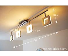 LED Lampadario con Faretti Mobili Plafoniera NEW Braccio LED