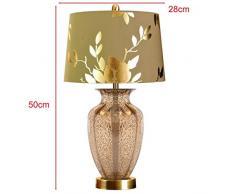 ILQ Lampada da Comodino in Cristallo di Cristallo Stile Europeo, Soggiorno Camera da Letto, Moderna Lampada Moda Semplice, 28 * 28 * 50 cm,* 2 *
