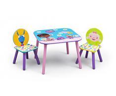 Disney - Set Tavolo e sedie per bambini con struttura in metallo Doc McStuffins