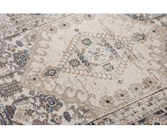 Tapiso Tappeto Salotto Orientale Collezione Dubai – Colore Beige Grigio Disegno Tradizionale Persiano – Qualità Oeko-Tex – Diverse Misure S-XXXL