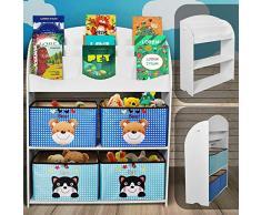 NOVA Libreria Scaffale per Giocattoli Mobiletto per Bambini Portagiochi Organizzatore