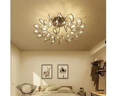 Ali@Luci di soffitto Creativo di illuminazione camera da letto luci nordiche LED caldi Arte Romantico personalità semplice moderna Illuminazione Soggiorno Lampade da soffitto (Colore : Brown)