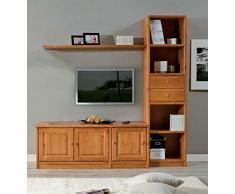 Mobile soggiorno porta tv in legno massello - GREZZO (NON VERNICIATO)