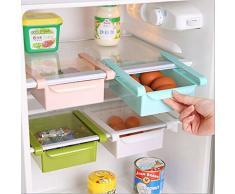 Multiuso in plastica Cucina Frigorifero cassetto scorrevole congelatore Organizzazione Mensola salvaspazio
