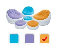 Poltrona Poltroncina Relax Gonfiabile Intex con Pouff Poggiapiedi Colore Arancio