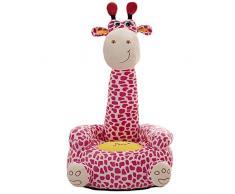Kaliya Poltrona Kid Divano Giraffa Cartoon Animal Chair Decorazione per la casa Cameretta per Bambini
