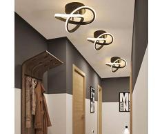 DAXGD Lampade da soffitto moderne, 22W Plafoniera LED lampadario LED decorativo per corridoio guardaroba balcone, 3000K luce bianca calda