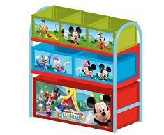 Disney Mickeu Mouse Scaffale Multi Contenitore Portagiochi