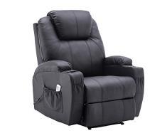 MCombo 7061 - Poltrona relax elettrica, con funzione reclinabile e riscaldamento, modello nuovo