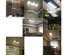 Buona lampadario Cristallo lampada lampadario creative personalità semplice moderna Soggiorno Sala da pranzo Bar rettangolare sala da pranzo Lampadario ( dimensioni : 60*20*70cm )