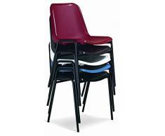 Sedie In Metallo E Plastica : Sedia da ufficio poltrona fissa per sala attesa metallo e plastica