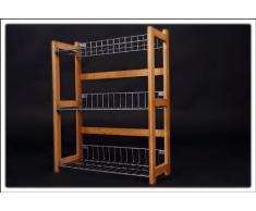 Spetebo - Scaffale da cucina in bambù, 3 ripiani, con possibilità di montaggio a parete