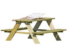 Pic Nic tavolo e panchine Set per bambini uso interno e esterno di Gartenpirat