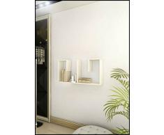 COUPLE Mensola da muro - Bianco - Mensola Parete - Mensola Libreria - Scaffale pensile per studio / soggiorno in Design moderno