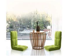 KGHEBN Divano da Gioco Regolabile per sedie a Sdraio 14 Position Buffer Poltrona Pieghevole per Lettino (Verde)