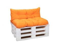 Cuscini per pallet, cuscini per divani in pallet, cuscini per sedie,cuscini per pallet economici, cuscini da giardino, cuscini impermeabili (arancione, Cuscini:120x80cm)