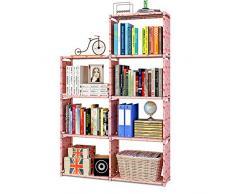 Scaffale Portaoggetti a 6 Cubi, Libreria, Scarpiera, Scaffale per Organizer in Soggiorno, Camera per Bambini, per Giocattoli e necessità Quotidiane