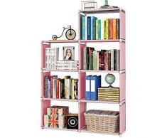 MOAMUN - Scaffale a cubo multifunzione a 7 cubi per libreria, fai da te, organizer per spogliatoio, soggiorno, camera dei bambini, libri, vestiti, giocattoli, scarpe, arte (color2)