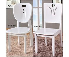 Legno massello sedia da pranzo home semplice e moderno stile Cinese dipinte di bianco tavolo da pranzo in legno sgabello indietro Sedia ,Sedia Apple