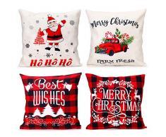 iMucci cuscini natalizi -Cuscini per divani Decorativo Cotone Biancheria Cuscino copricuscini Divano Caso Federa per Cuscino 45x45 cm
