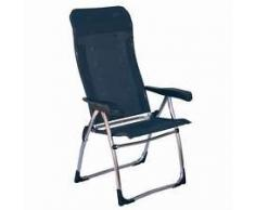 Poltrona sedia pieghevole STABIELO - alluminio - Campeggio - con - 68 cm - schienale anatomica - Rivestimento 100% Multi Fiber - Rivestimento in PVC - 5 livelli regolabili - solo 3,4 Kilo - colore - Azur - grigio - 110 kg