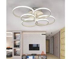 ONLT Plafoniera LED da soffitto,Super-sottile cerchio Soffitto moderni lampadari di luce Luce per soggiorno,sala da pranzo (Bianco freddo, 6 Teste)