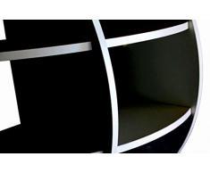 SCAFFALE SFERICO Libreria Da Appoggio NERO 61x61 NS-01020100