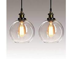 Lampadari, Lampadario LED,Moderna Lampada a sospensione regolabile,LIUSUN LIULU 60W LED Lampadari a soffitto,3000K(Bianco Caldo)