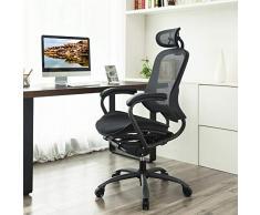 Ergonomia Scrivania Ufficio : Sedie da scrivania songmics color nero da acquistare online su livingo