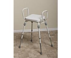 NRS Healthcare Compact EasyTM - Sgabello di assistenza con braccioli e seduta con imbottitura in vinile.