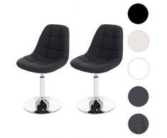 Set 2x sedie sgabello Cascina design moderno sala pranzo 50x47x84cm ~ tessuto grigio scuro
