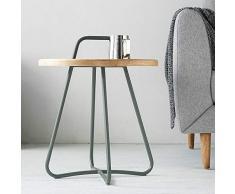 MKJYDM Tavolino in Ferro, Tavolino Rotondo Creativo Piccolo Appartamento Lato Soggiorno, Tavolino Semplice Estraibile Tavolino da caffè (Color : C)