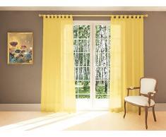 Splendid Collezione DIANA - Tenda con passanti, 140 x 245 cm, colore giallo