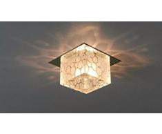 yxhflo Moderno e minimalistLedLamps lampadario di cristallo soggiorno lampada da soffitto luci giorni balcone lanterna luci di cristallo faretto da incasso,grande12cm lightLedFlush caldo Mount